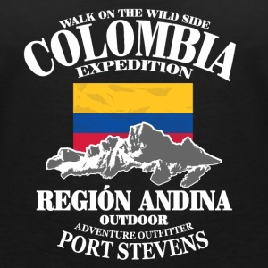 Columbia - Flag & Mountains Tee shirts - T-shirt col V Femme