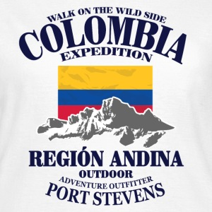 Columbia - Flag & Mountains T-shirts - Vrouwen T-shirt