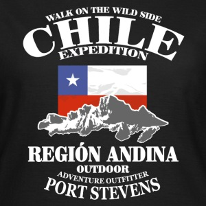 Chile - Flag & Mountains T-Shirts - Women's T-Shirt