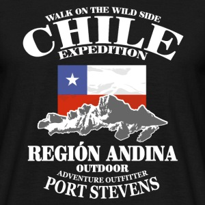 Chile - Flag & Mountains T-Shirts - Men's T-Shirt