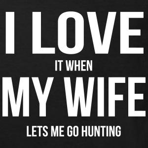I LOVE MY WIFE (IF SHE LETS ME HUNTING GOING) Shirts - Kids' Organic T-shirt