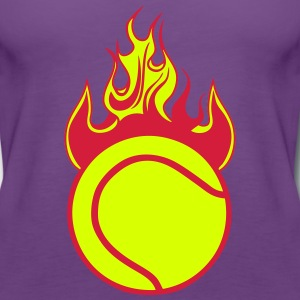 feuer flamme tennisball 1110 Tops - Frauen Premium Tank Top