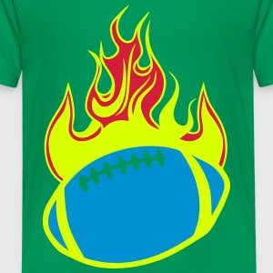 rugby football flamme feuerball 1110 T-Shirts - Kinder Premium T-Shirt