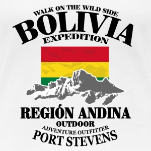 Bolivia - Flag & Mountains T-shirts - Premium-T-shirt dam