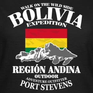 Bolivia - Flag & Mountains T-Shirts - Frauen T-Shirt