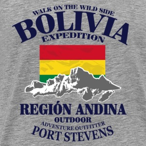 Bolivia - Flag & Mountains Tee shirts - T-shirt Premium Homme