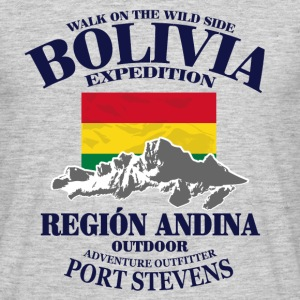 Bolivia - Flag & Mountains Tee shirts - T-shirt Homme