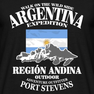 Argentina - Flag & Mountains T-shirts - T-shirt herr