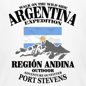 Argentina - Flag & Mountains T-shirts - Organic mænd