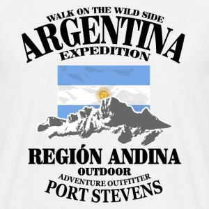 Argentina - Flag & Mountains Camisetas - Camiseta hombre