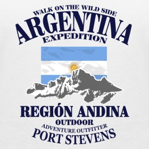 Argentina - Flag & Mountains T-shirts - Vrouwen T-shirt met V-hals