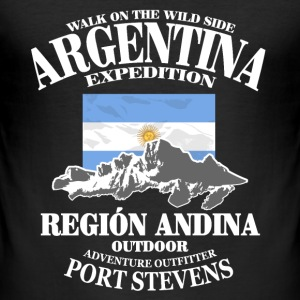Argentina - Flag & Mountains Tee shirts - Tee shirt près du corps Homme