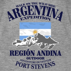 Argentina - Flag & Mountains Tops - Camiseta de tirantes premium mujer