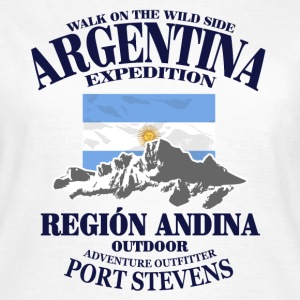 Argentina - Flag & Mountains T-shirts - Dame-T-shirt