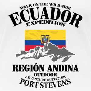 Ecuador - Flag & Mountains T-shirts - Premium-T-shirt dam