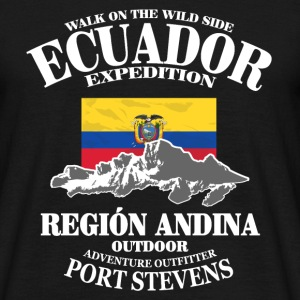 Ecuador - Flag & Mountains Tee shirts - T-shirt Homme