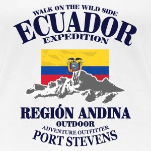 Ecuador - Flag & Mountains T-Shirts - Frauen Premium T-Shirt