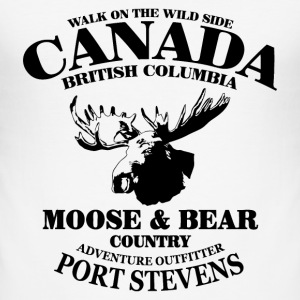 Moose - Canada T-Shirts - Men's Slim Fit T-Shirt