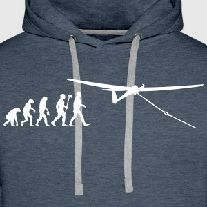 evolution vol à voile Sweat-shirts - Sweat-shirt à capuche Premium pour hommes