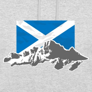 Scotland - Flag & Mountains Pullover & Hoodies - Unisex Hoodie