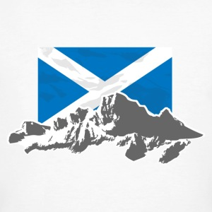 Scotland - Flag & Mountains T-Shirts - Männer Bio-T-Shirt