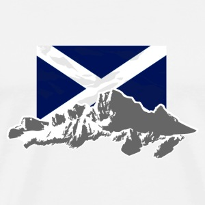 Scotland - Flag & Mountains T-Shirts - Männer Premium T-Shirt