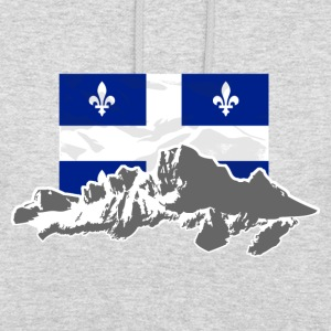 Quebec - Flag & Mountains Pullover & Hoodies - Unisex Hoodie