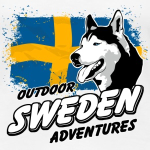 Swedish Husky - Sweden Flag T-Shirts - Frauen Premium T-Shirt