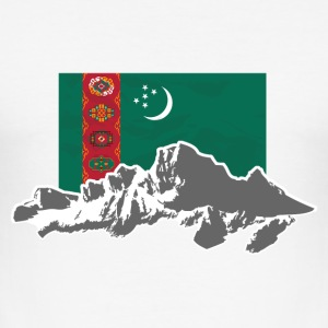 Turkmenistan - Flag & Mountains T-Shirts - Männer Slim Fit T-Shirt