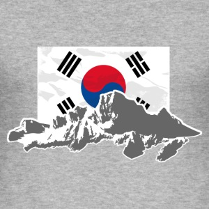 South Korea - Flag & Mountains T-Shirts - Männer Slim Fit T-Shirt