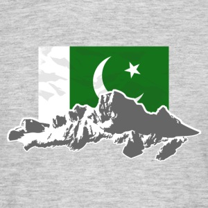 Pakistan - Flag & Mountains T-Shirts - Männer T-Shirt