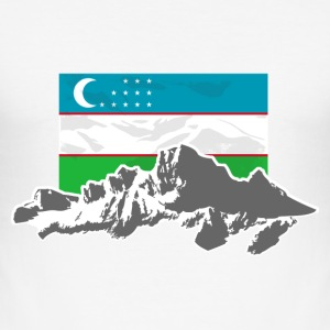 Uzbekistan - Usbekistan - Flag & Mountains T-Shirts - Männer Slim Fit T-Shirt