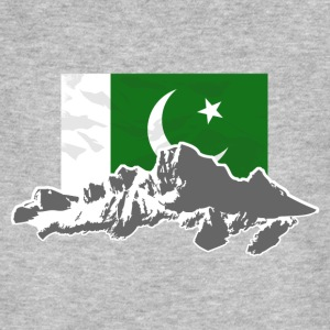 Pakistan - Flag & Mountains T-Shirts - Männer Bio-T-Shirt