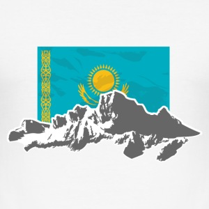 Kazakhstan - Kasachstan - Flag & Mountains T-Shirts - Männer Slim Fit T-Shirt