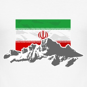 Iran - Flag & Mountains T-Shirts - Männer Slim Fit T-Shirt