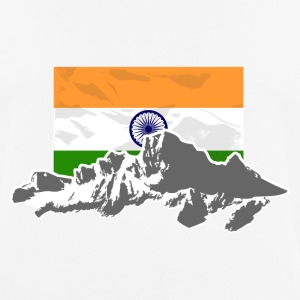 India - Indien - Flag & Mountains T-Shirts - Männer T-Shirt atmungsaktiv