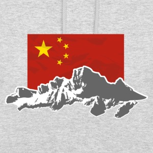 China - Flag & Mountains Pullover & Hoodies - Unisex Hoodie