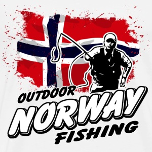 Norway Fishing - Norwegian Flag T-Shirts - Männer Premium T-Shirt