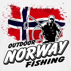 Norway Fishing - Norwegian Flag T-Shirts - Männer T-Shirt