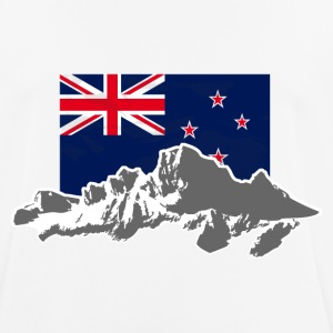 New Zealand - Mountains & Flag T-Shirts - Men's Breathable T-Shirt