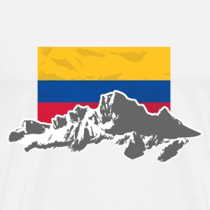 Columbia - Mountains & Flag Tee shirts - T-shirt Premium Homme