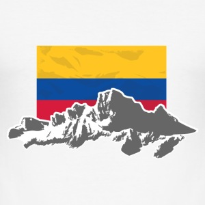 Columbia - Mountains & Flag Tee shirts - Tee shirt près du corps Homme