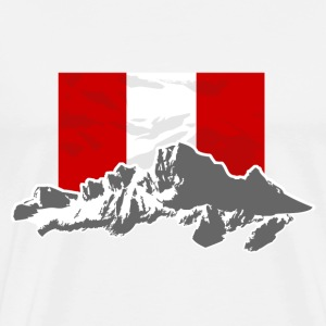 Peru - Mountains & Flag T-shirts - Premium-T-shirt herr