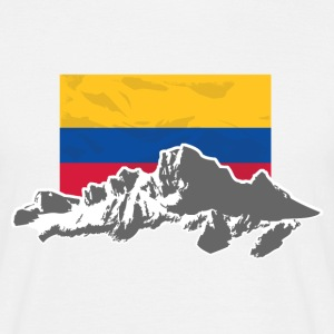 Columbia - Mountains & Flag T-shirts - Herre-T-shirt