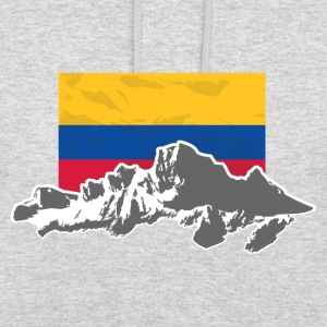 Columbia - Mountains & Flag Felpe - Felpa con cappuccio unisex