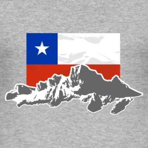 Chile -  Mountains & Flag T-shirts - Herre Slim Fit T-Shirt