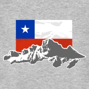 Chile -  Mountains & Flag Camisetas - Camiseta ecológica hombre