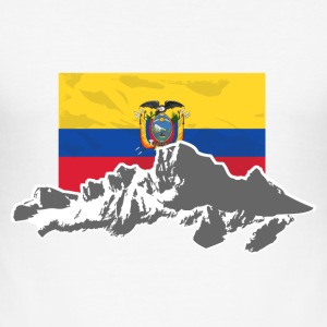 Ecuador - Mountains & Flag T-Shirts - Männer Slim Fit T-Shirt