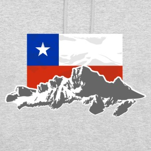 Chile -  Mountains & Flag Pullover & Hoodies - Unisex Hoodie