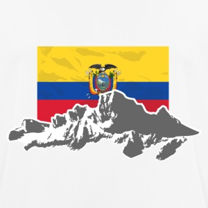 Ecuador - Mountains & Flag T-shirts - Andningsaktiv T-shirt herr
